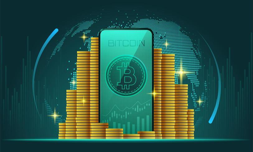 Cryptocurrency grafisk bakgrund vektor