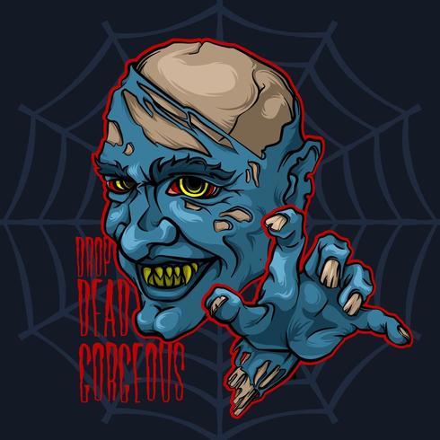 Böser Dämonen-Vampir-Zombie vektor
