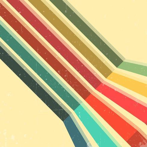Vintage färg linjer bakgrund vektor