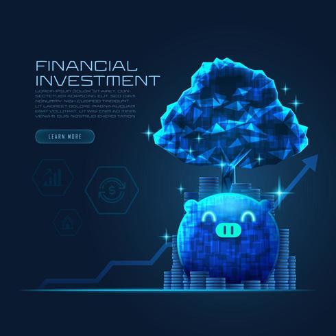 Konzeptkunst des finanziellen Wachstums vektor