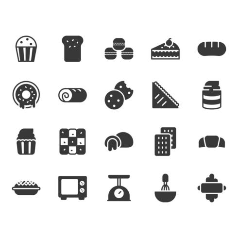 Bäckerei-Icon-Set vektor