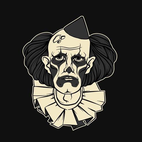 Sad Clown Halloween vektor
