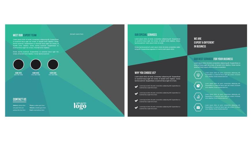 Bi Fold Broschüre Vorlage vektor