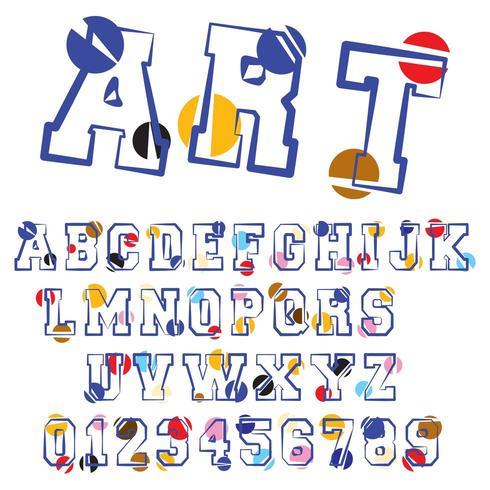Kreisförmige Alphabet Schriftvorlage vektor