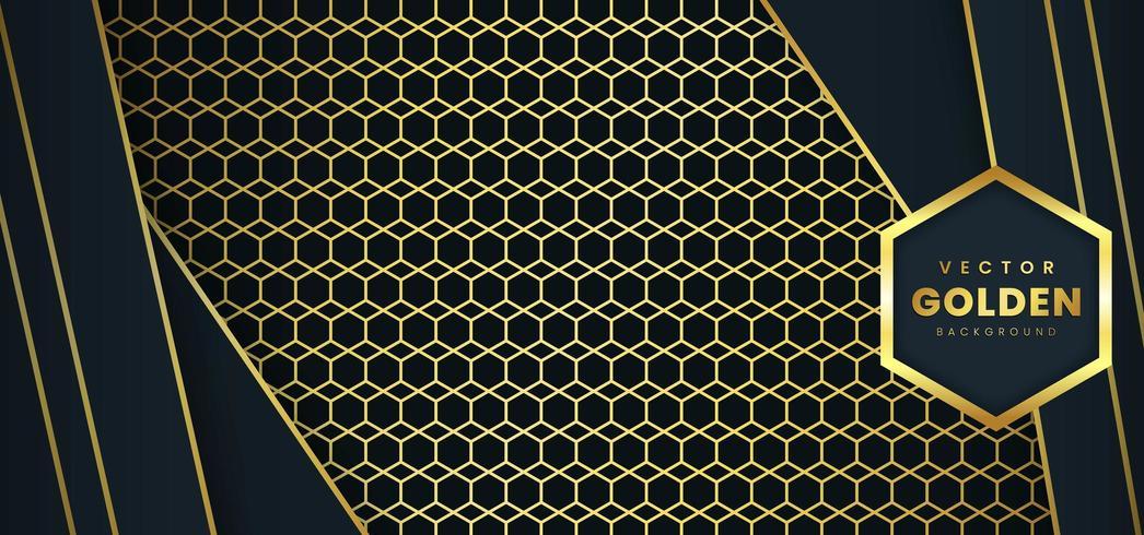 Gyllene lyxig bakgrund vektor