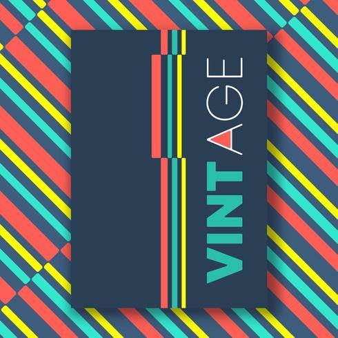 Vintage färg linjer affisch vektor