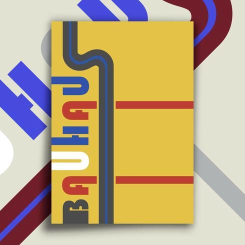 Bauhaus vintage affisch vektor