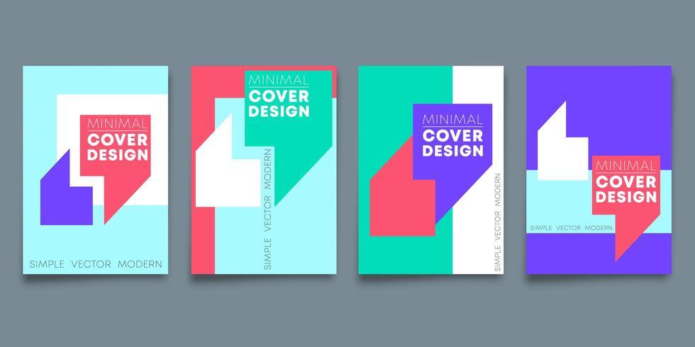 Uppsättning av minimal designbakgrundsdesign för reklambladmallen vektor