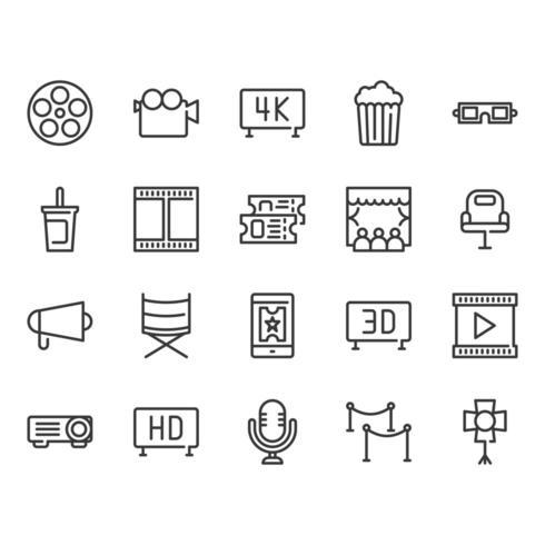 Kino-Icon-Set vektor