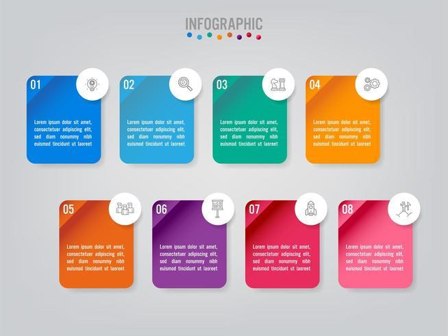 Affärsmässig infographic etikettmall med alternativ vektor