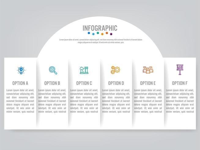 Geschäft Infografik Etiketten Vorlage mit Option vektor