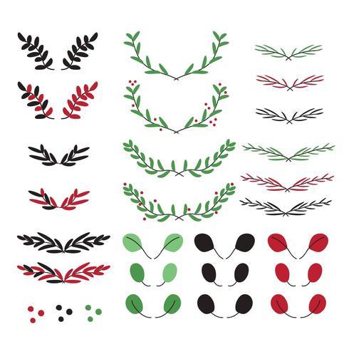 Weihnachtskranz Elemente Premium-Vektor vektor