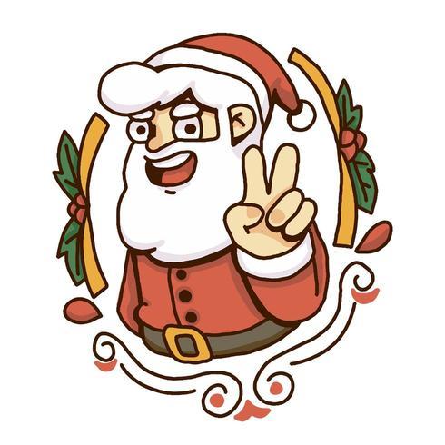 Jul santa fred tecken vektor