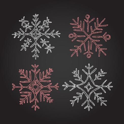 Weihnachtskreide-Kranz-Element-Prämienvektor vektor