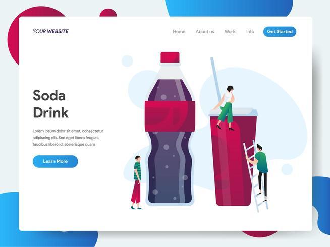 Landningssidamall för Soda Drink vektor