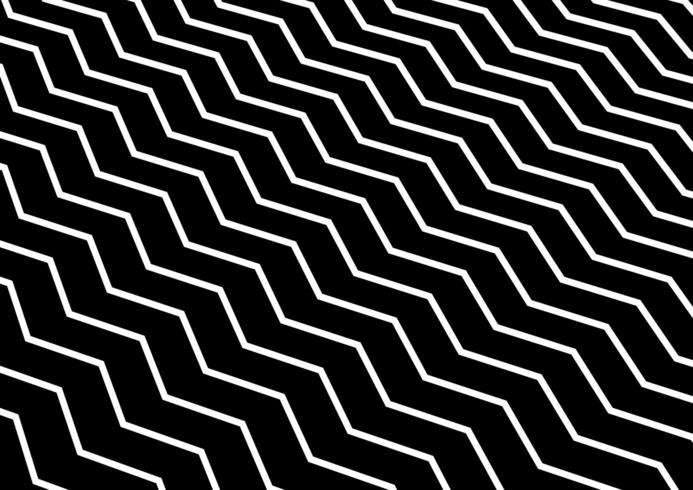 Abstrakt diagonal vit chevronvåg eller vågigt mönster på svart bakgrund. vektor
