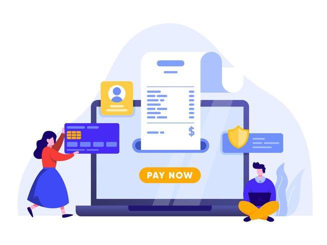 Mobil betalning eller pengaröverföring vektor