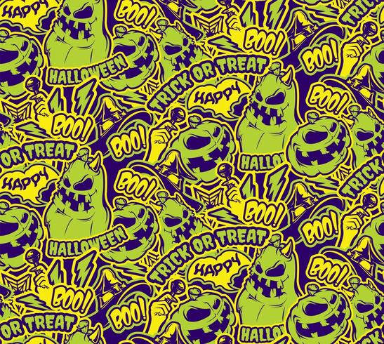 Farbe Halloween nahtlose Muster vektor