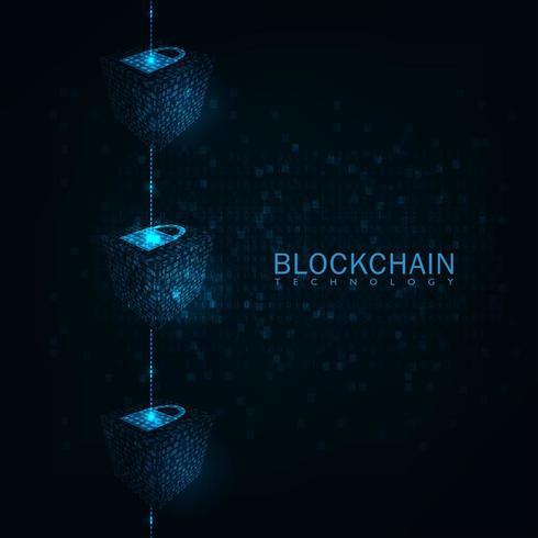 Block Chain Technologiekonzept. vektor