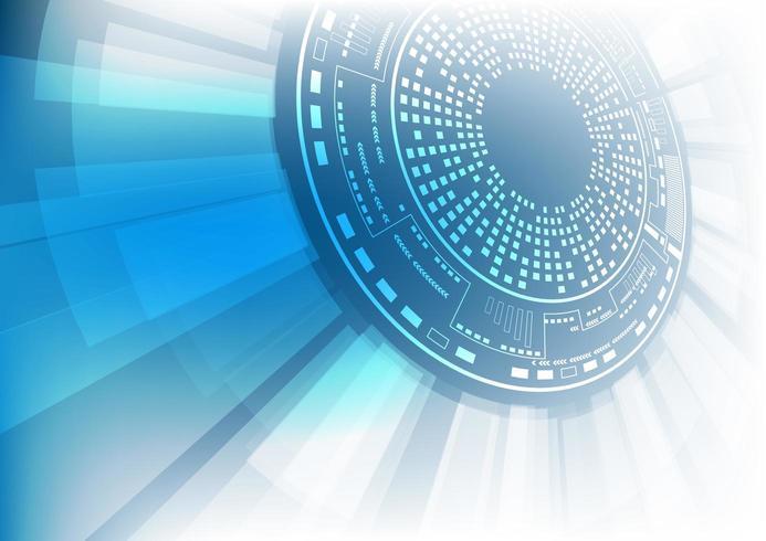 Glödande abstrakt cirkulär teknikbakgrund vektor
