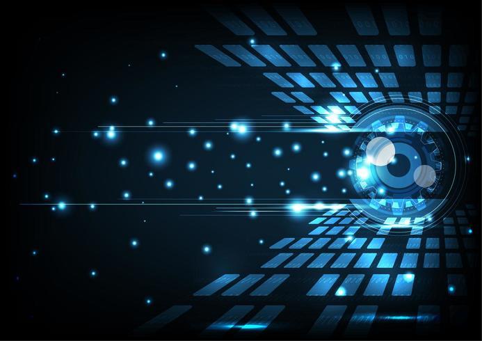 Abstrakt öga digital teknik koncept vektor