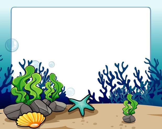 Randauslegung mit Unterwasserszene vektor