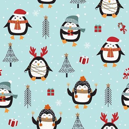 Weihnachtsnahtloses Muster mit Pinguin vektor