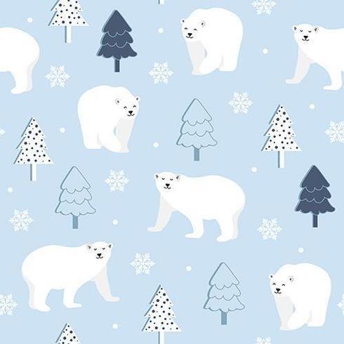 Nahtloses Muster des Winters mit Eisbären vektor