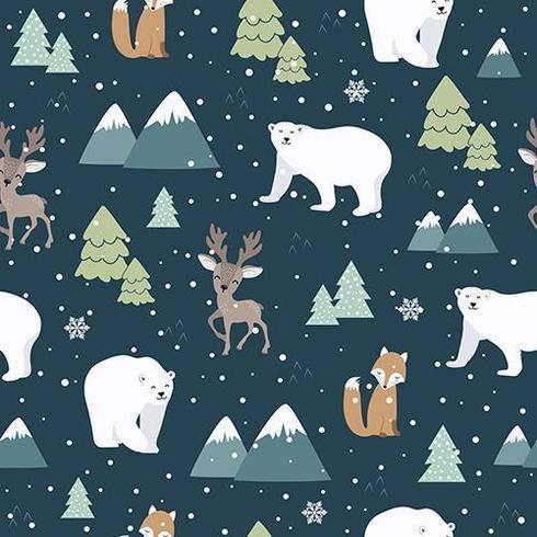 Weihnachtsnahtloses Muster mit Eisbären vektor