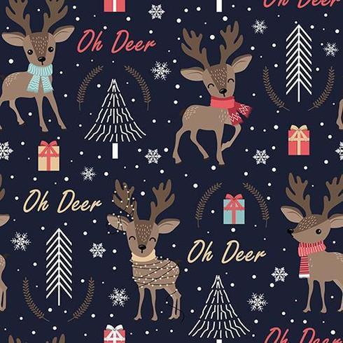Weihnachtsnahtloses Muster mit Ren vektor