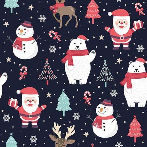 Weihnachtsnahtloses Muster mit Sankt und Eisbären vektor