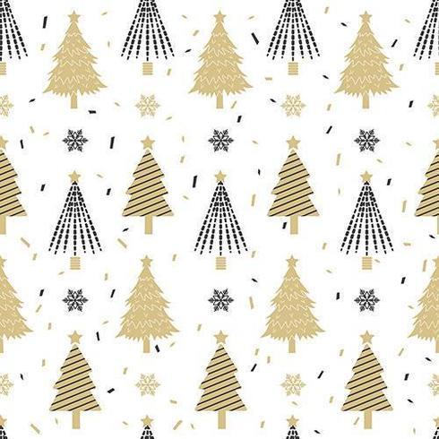 Julgran sömlösa mönster vektor