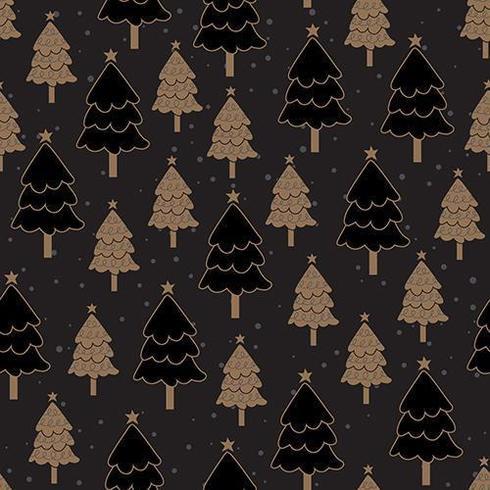Dunkles nahtloses Muster des Weihnachtsbaums vektor
