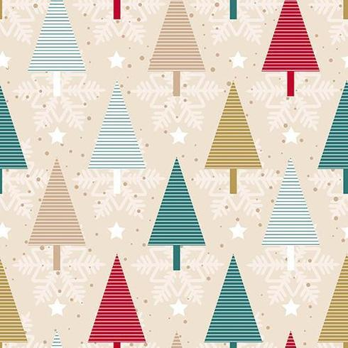 Weihnachtsbaum nahtlose Muster vektor