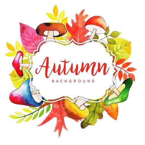 Schöner Herbstlaubrahmen vektor