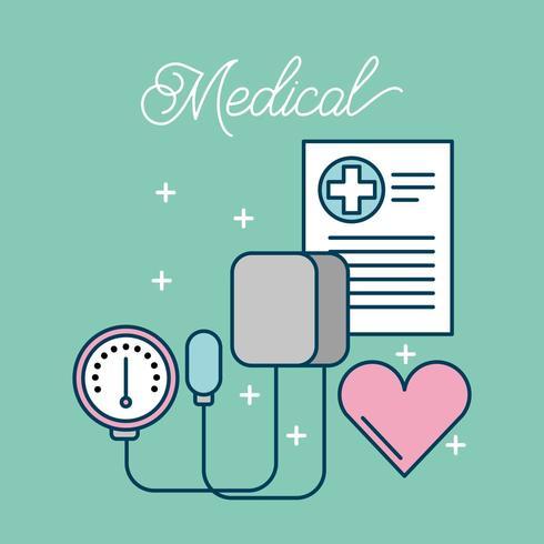 artiklar för medicinsk hälsovård vektor