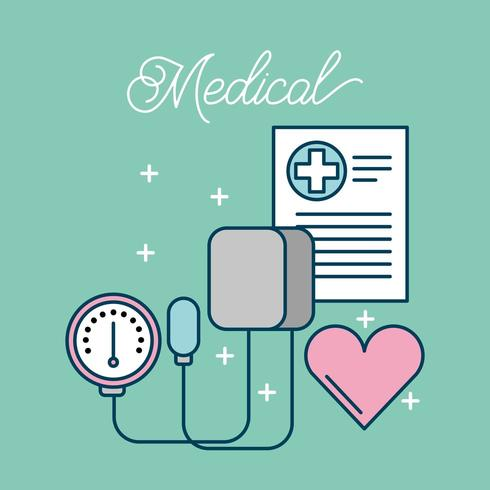 medizinische Gesundheitspflegeartikel vektor