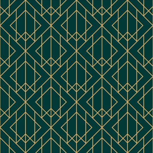 grönt och guld diamant geometriskt mönster vektor