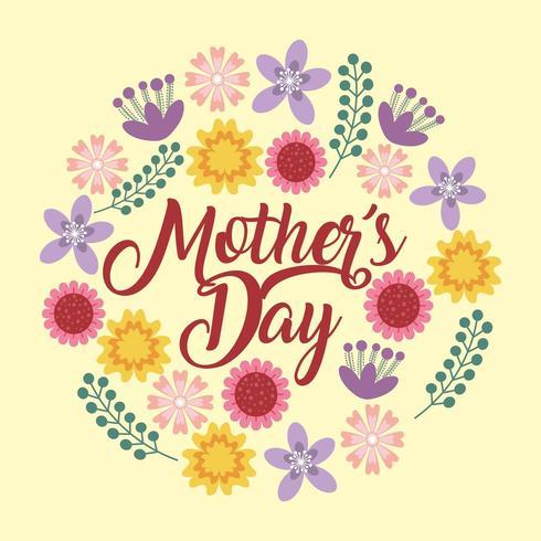 Muttertag Blumenkarte vektor