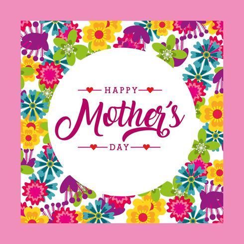 Blommor dagskort för mödrar vektor