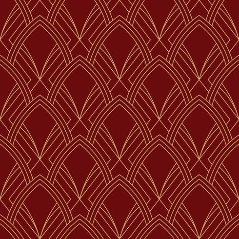 enkel sömlös art deco geometrisk röd rödbrun mönster vektor