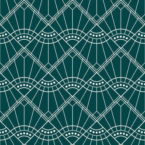 art deco enkel geometrisk diamantvågmönster vektor