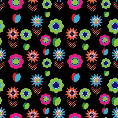 Ljusa färgglada blommönster vektor