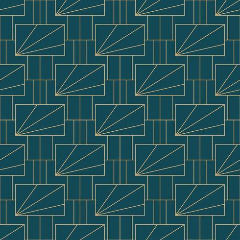 Enkelt sömlöst geometriskt mönster för art deco vektor