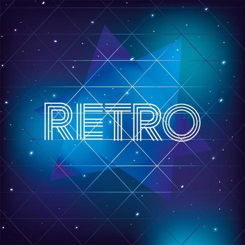 Grafik Retro 80er Jahre mit Neon-Stil Hintergrund vektor