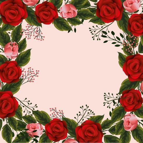 tropische Blumen und Niederlassungen verlässt Hintergrund vektor