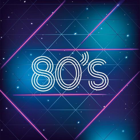 geometrisk grafisk bakgrund för 80-tal vektor
