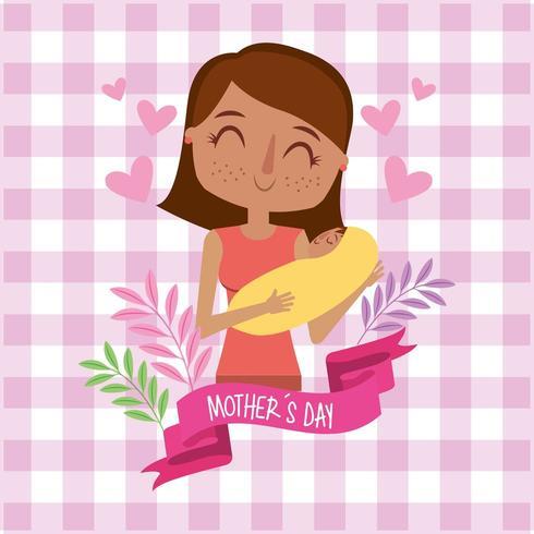 mors dagskort vektor