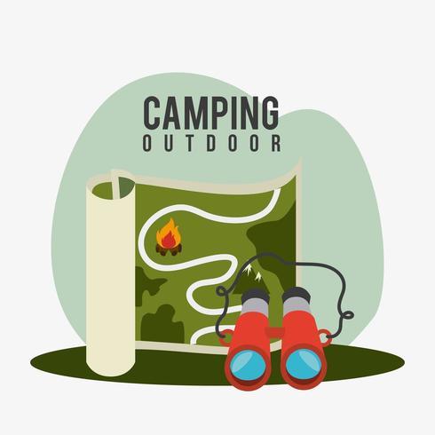 Camping, resor och semester vektor