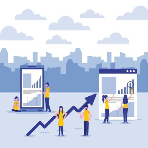 affärsekonomi konceptuppsättning vektor